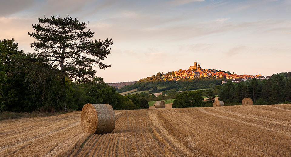 Burgundy countryside and historical surroundings...Vézelay