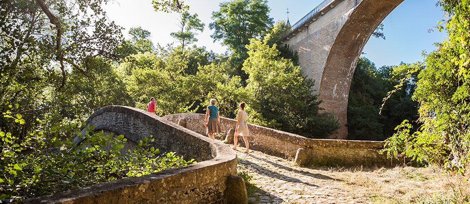 and, in the La Cure valley, the ancient Roman path and bridge of Pierre-Perthuis
